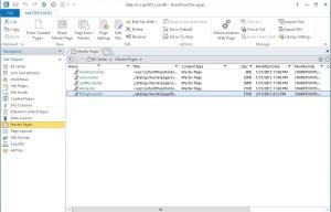 Add Master Page in SharePoint Designer