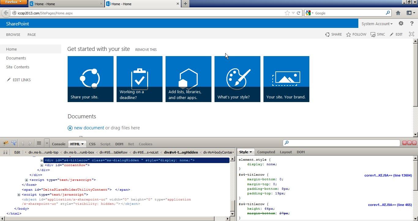 Removing Left Navigation Bar in SharePoint 2013 Master Page