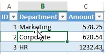 New ID Column in Table